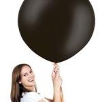 ลูกโป่งจัมโบ้ สีดำ ขนาด 36 นิ้ว - Round Jumbo Balloon Black
