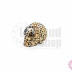 หินอาเกตลาย หัวกระโหลก กลาง (1ชิ้น)