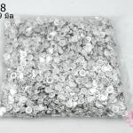 ตะขอสร้อยแบบกระดุม 7x9 มิล สีเงิน (1,000 ชิ้น)