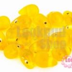 ลูกปัดแก้ว ทรงหยดน้ำ สีเหลือง 10x15 มิล(1ขีด/57ชิ้น)