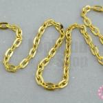โซ่ห่วง สีทอง 2X4มิล (1หลา/90ซม.)
