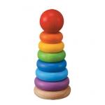 ของเล่นไม้ ของเล่นเด็ก ของเล่นเสริมพัฒนาการ Stacking Ring วงแหวนสวมหลัก (ส่งฟรี)