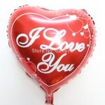 ลูกโป่งฟลอย์รูปหัวใจแดง พิมพ์ลาย I LOVE YOU ไซส์ 18 นิ้ว - I Love You Heart Red Shape Foil Balloon / Item No. TL-E011
