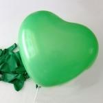 """ลูกโป่งหัวใจ เนื้อสแตนดาร์ทสีเขียวเข้ม ไซส์ 12 นิ้ว แพ็คละ 10 ใบ (Heart Latex Balloon - Dark Green Color 12"""")"""