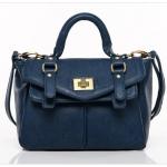กระเป๋าหนัง pu แบรนด์ axixi สีน้าเงินเข้ม เข็มขัดหมุดใหม่หัวเข็มขัด
