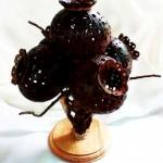 โคมไฟกะลามะพร้าว Coconut Shell Lamp (Opium Flower)