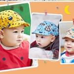 หมวกเด็ก สีเหลือง สีเทา สีฟ้า ชมพู MC88