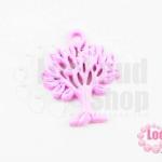 จี้โรเดียม ต้นไม้ สีม่วงอ่อน 27 มิล