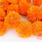 ปอมปอมไหมพรม สีส้ม 2.5ซม. (100ลูก)