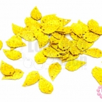 เลื่อมปัก ใบไม้ สีทองดิสโก้ 9X16มิล(5กรัม)