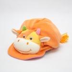 หมวกเด็ก หมวกเด็กอ่อน หมวกหน้าสัตว์ หมวกหน้าวัว สีส้ม ข้างหลังเป็นยางยืด ผ้านุ่ม สวมใส่สบาย (ส่งฟรี)