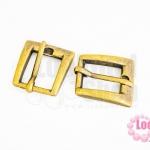 ตัวล๊อคกระเป๋า สีทองเหลือง 21X24มิล(2ชิ้น)