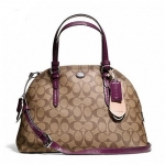 กระเป๋า COACH PEYTON SIGNATURE CORA DOMED SATCHEL F24606