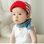 หมวกเด็ก MC157 สีเหลือง แดง กรม
