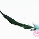 ขนนกไล่สี สีเขียวฟ้า ยาว 45 ซม.