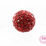 บอลเพชร เกรดดี 10 มิล สีแดง
