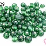 ลูกปัดแก้ว ทรงกลม สีเขียว (ใส) 5มิล(1ขีด/100กรัม)