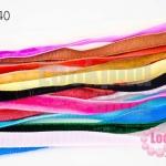 เชือกผ้า ริบบิ้นกำมะยี่ คละสี 10เส้น(1เส้น/1หลา)