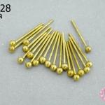 ตะปูหัวหมุด สีทองเหลือง (หนา) 15มิล (10กรัม)