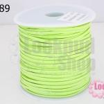 หนังชามัวร์(หนังแบน) สีเขียวใบตอง No.65 (1ม้วน/100หลา)