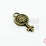 จี้ทองเหลือง เด็กผู้หญิง 11x23มิล(1ชิ้น)