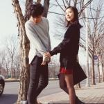 เสื้อแขนยาวคู่รัก เสื้อผ้าแฟชั่น ชาย เสื้อแขนยาวสีเทา +หญิง เสื้อแขนยาวสีดำ +พร้อมส่ง+