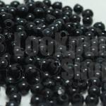 ลูกปัดมุกพลาสติก สีดำ 4มิล 1 ขีด (3,553ชิ้น)