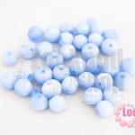 ลูกปัดแก้ว ตาแมว สีน้ำเงินอ่อน 8มิล (1ขีด/171ชิ้น)