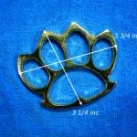 สนับมือ ชุบทอง ขนาดกลาง 3 3/4 x 3 1/4 นิ้ว