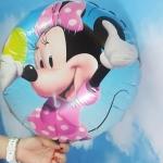 ลูกโป่งฟลอย์ลาย Minnie Mouse ทรงกลม (แพ็ค10ใบ) / Item No. TL-A064 B