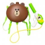 ปืนฉีดน้ำเป้ Line - หัวหมี Brown ปืนฉีดน้ำสงกรานต์