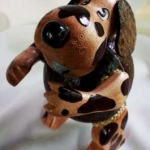 ออมสินกะลามะพร้าวรูปสุนัข Coconut Shell Savings (Doggy)