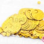 เลื่อมปัก กลมใหญ่ สีทองดิสโก้ 19มิล(5กรัม)