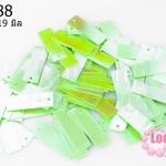 เลื่อมสี่เหลี่ยมยาว สีเขียวอ่อนเหลือบ 7X19มิล (5กรัม)