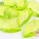 ลูกปัดพลาสติกทรงหยดน้ำ 16X27มิล สีเขียวอ่อน(60เม็ด)