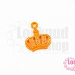 จี้โรเดียม มงกุฎ สีส้ม 20 มิล