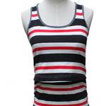 MK454 เสื้อกล้ามเปิดให้นม โทนสีแดงสลับขาว กรม เนื้อผ้าดี ด้านหน้าเปิดให้นมน้องได้สะดวกค่ะ