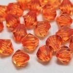 คริสตัลพลาสติก สีส้ม 10มิล(100กรัม)(274เม็ด)