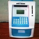 ตู้ ATM ออมสิน สีขาวฟ้า (ซื้อ 3 ชิ้น ราคาส่ง 500 บาท ต่อชิ้น)