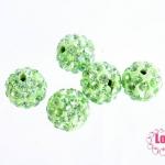บอลเพชร เกรดดี 10 มิล สีเขียวอ่อน