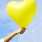 """ลูกโป่งหัวใจ เนื้อสแตนดาร์ทสีเหลือง ไซส์ 12 นิ้ว แพ็คละ 10 ใบ (Heart Latex Balloon - Yellow Color 12"""")"""