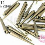 หมุดแหลมทองเหลือง 5X34มิล (1ขีด/290ชิ้น)