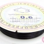 ลวดดัด สีดำ เบอร์ 0.6 ยาว 6 หลา(1ม้วน)