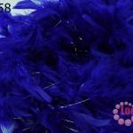 ขนนก มีดิ้น สีน้ำเงิน (1เส้น)