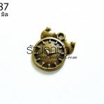 จี้ทองเหลือง รูปนาฬิกาปลุก 18 มิล (1ชิ้น)