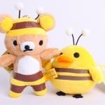 เซตพวงกุญแจคู่ Rilakkuma&Kiiroitori meet honey