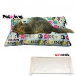 PJ-CPD005-M PetsJunG - Cooling pad set ชุดที่นอนเก็บความเย็น พร้อมเจลเก็บความเย็น สีฟ้า (Size M.) สำเนา
