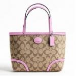 กระเป๋า COACH PEYTON TOP HANDLE TOTE F47367 KHAKI PINK