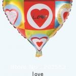 ลูกโป่งฟลอย์รูปหัวใจ พิมพ์ลาย LOVE ไซส์ 18 นิ้ว - LOVE Heart Shape Foil Balloon / Item No. TL-E005