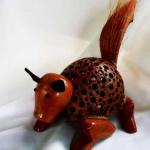 โคมไฟกะลามะพร้าวรูปหนู Coconut Shell Lamp Rat